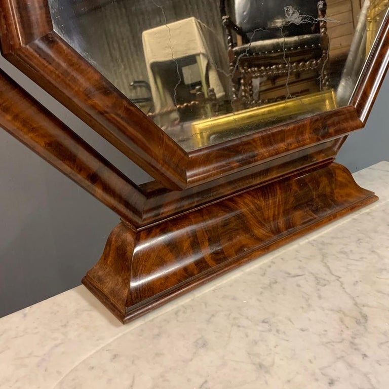 Early 19th Century English Regency Dressing Table with Original Marble 2