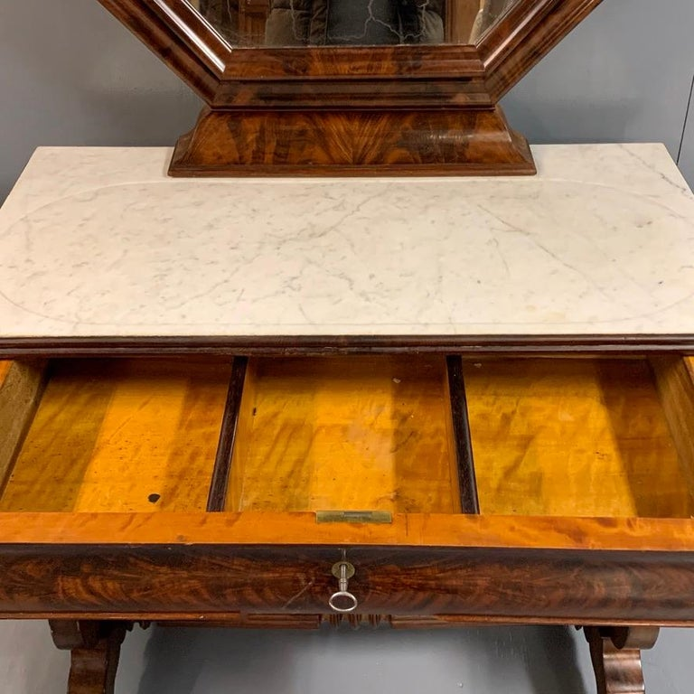 Early 19th Century English Regency Dressing Table with Original Marble 3