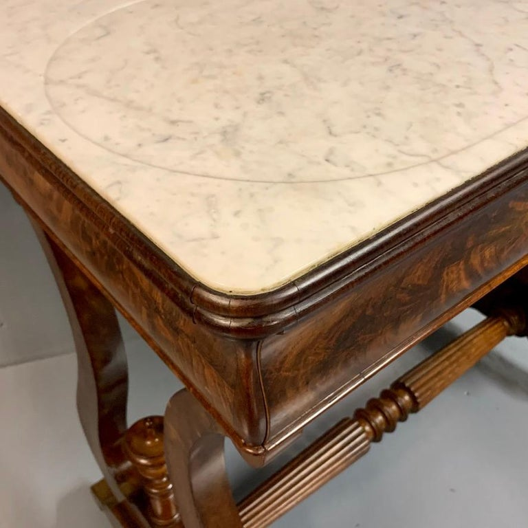 Early 19th Century English Regency Dressing Table with Original Marble 4