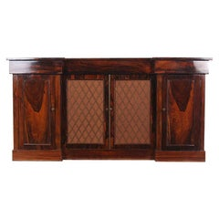 Early 19th Century English Regency Side Cabinet Buffet Credenza