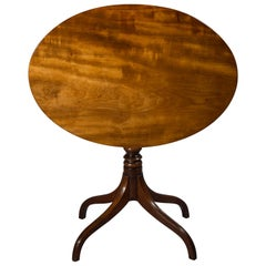 Early 19th Century English Regency Small Oval Table