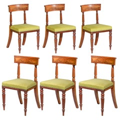 Early 19th Century English Set of Six Regency Dining Chairs
