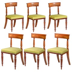 Early 19th Century English Set of Six Regency Mahogany Dining Chairs