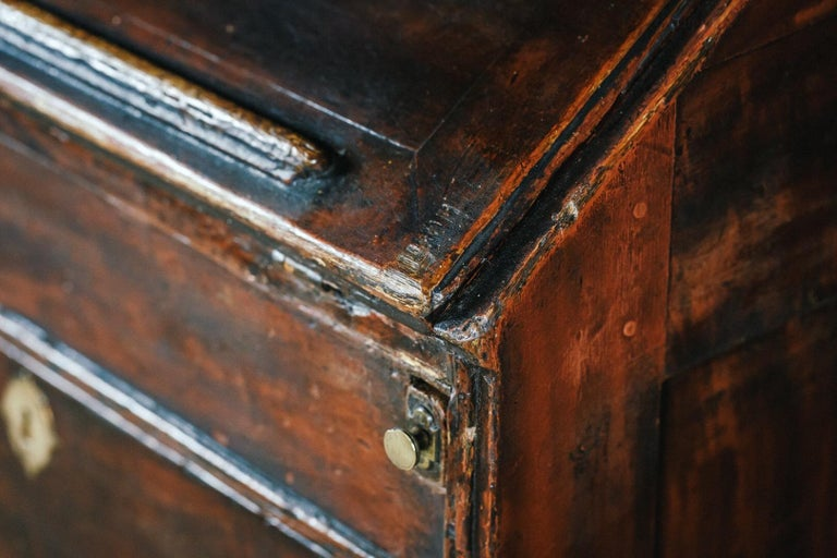 Early 19th Century English Vernacular Pine Bureau In Fair Condition For Sale In Pease pottage, West Sussex
