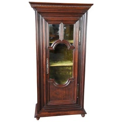Early 19th Century European Oak Curio Display Cabinet Vitrine Bookcase 76