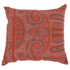 Early 19th Century European Paisley Wool Pillow