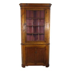 Early 19th Century Federal Two-Part Corner Cupboard