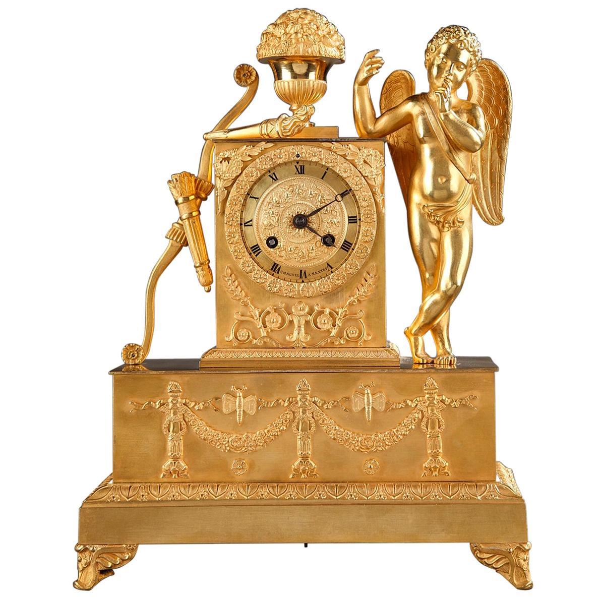 Early 19th Century Figural Restauration Mantel Clock