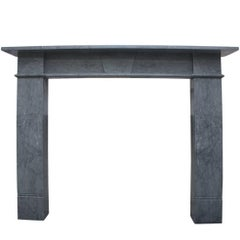 Early 19th Century Fire Surround in Bardiglio Grey Marble