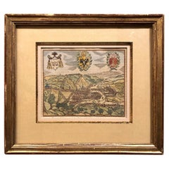 Early 19th Century Framed Lithograph of a Work by Sebastian Munster '1488-1522'