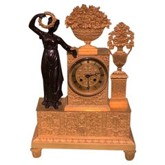 Early 19th Century French Bronze and Ormolu Eight Day Striking Clock