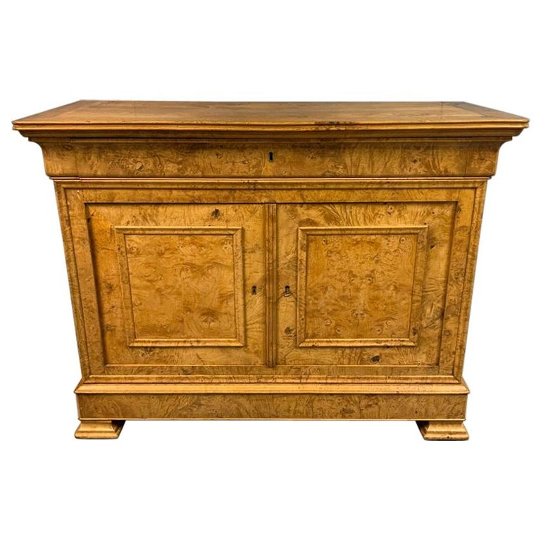 Early 19th Century French Burr Ass Buffet Sideboard For Sale