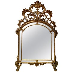 Early 19th Century French Carved Giltwood Mirror
