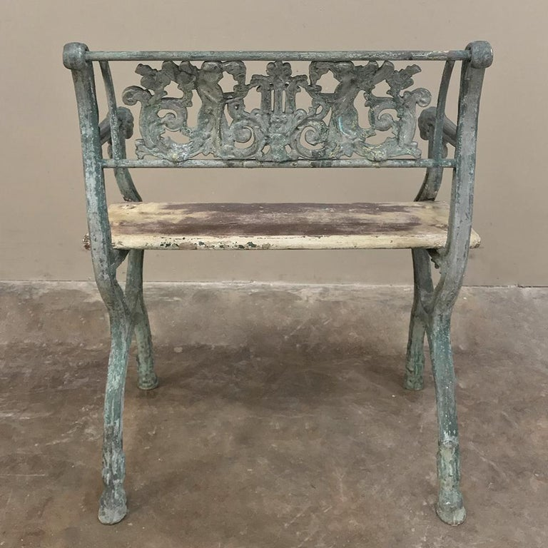 Early 19th Century French Charles X Cast Iron Armchair For Sale 6