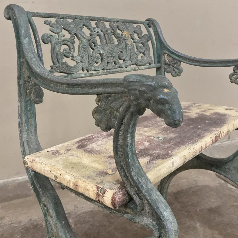 Early 19th Century French Charles X Cast Iron Armchair For Sale 2