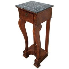 Early 19th Century French Charles X Mahogany Table with Marble Top