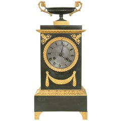 Early 19th Century French Charles X Period Iron and Giltwood Mantle Clock