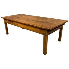 Early 19th Century French Cherrywood Coffee Table with Pull Out Slide