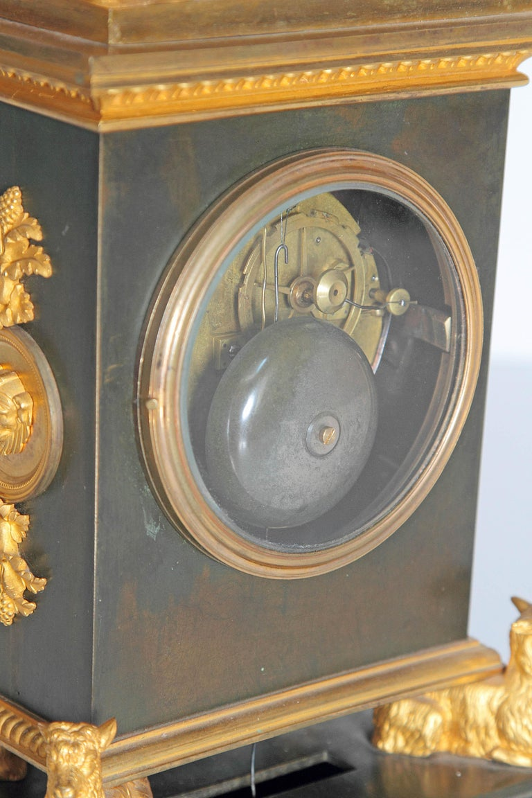 Early 19th Century French Clock with Putto For Sale 5