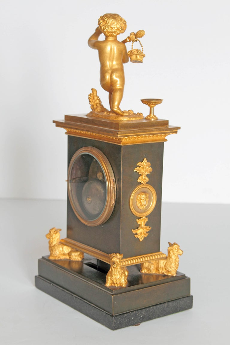 Early 19th Century French Clock with Putto For Sale 7
