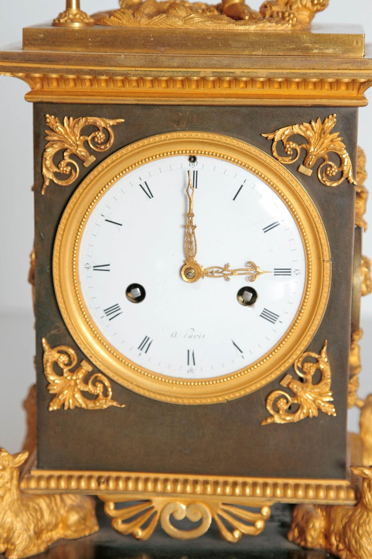 Early 19th Century French Clock with Putto For Sale 9