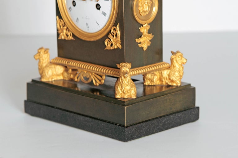 Neoclassical Early 19th Century French Clock with Putto For Sale