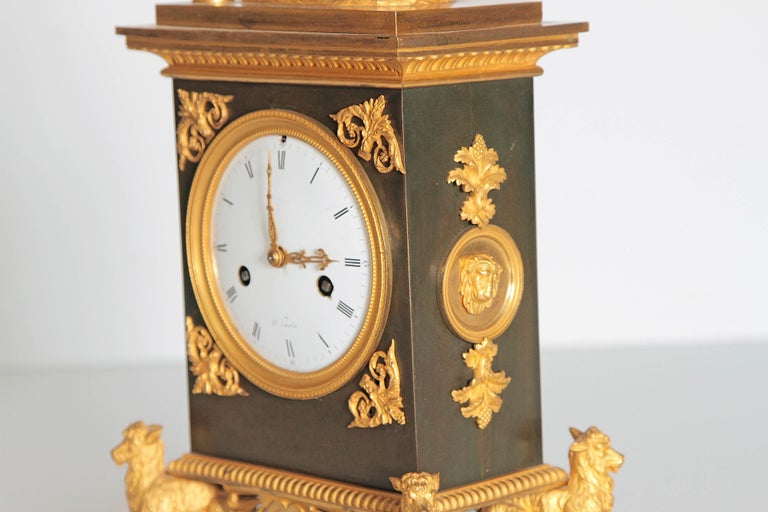 Early 19th Century French Clock with Putto In Good Condition For Sale In Dallas, TX