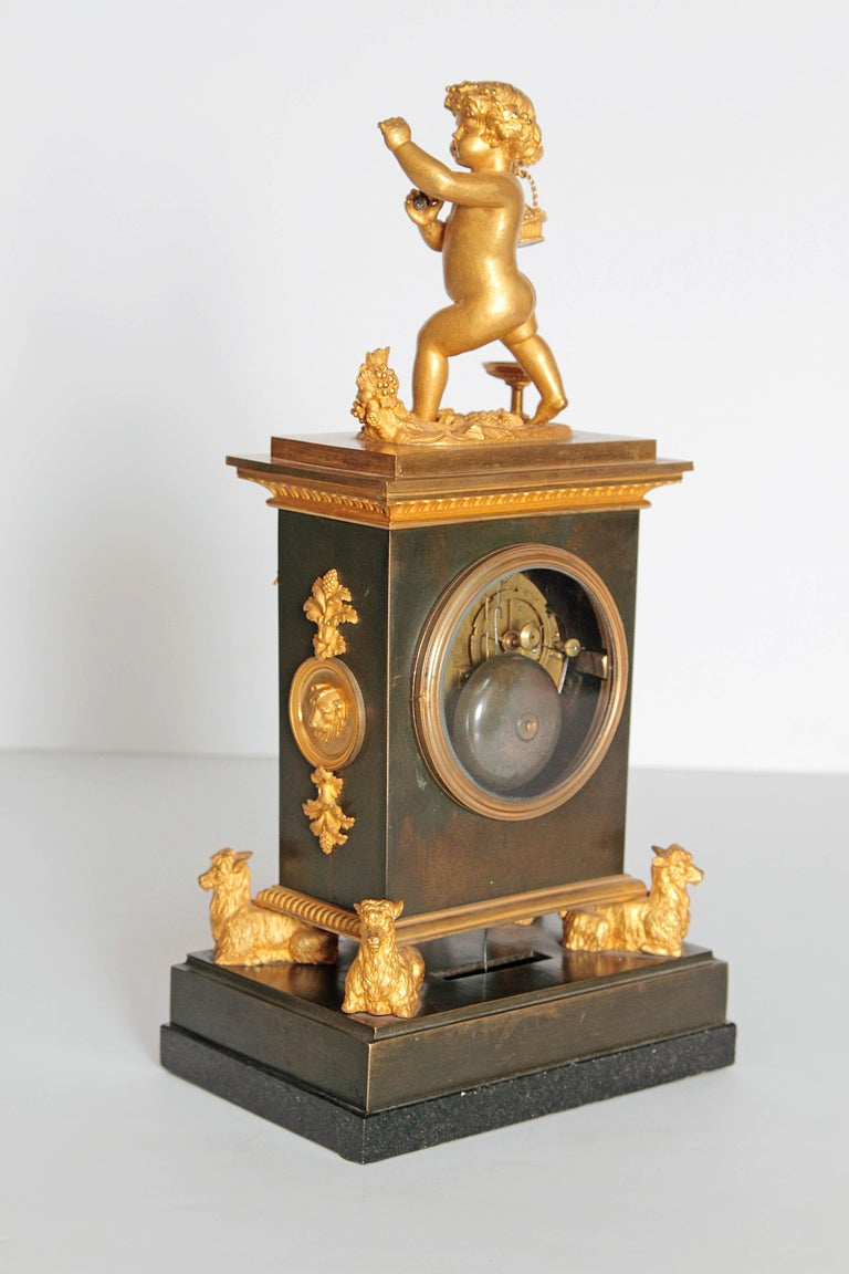 Early 19th Century French Clock with Putto For Sale 4