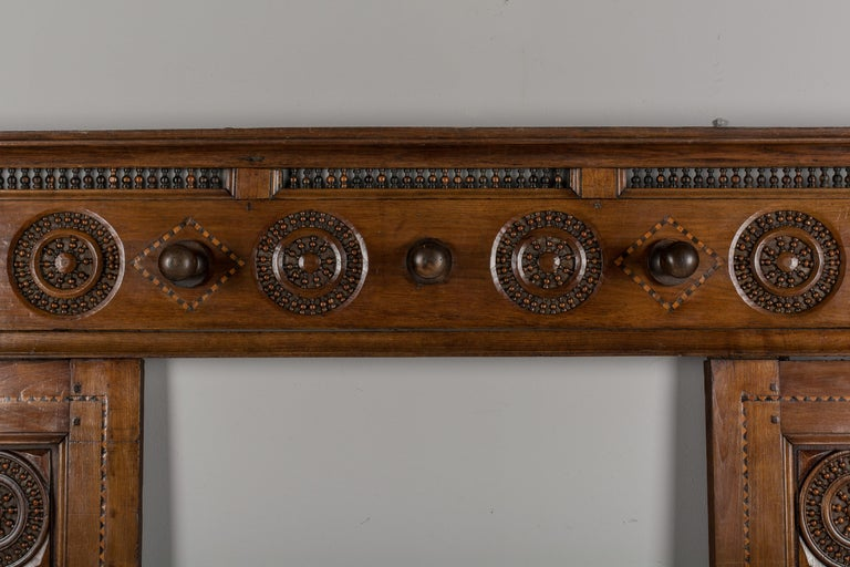 Early 19th Century French Coat Rack In Good Condition For Sale In Winter Park, FL