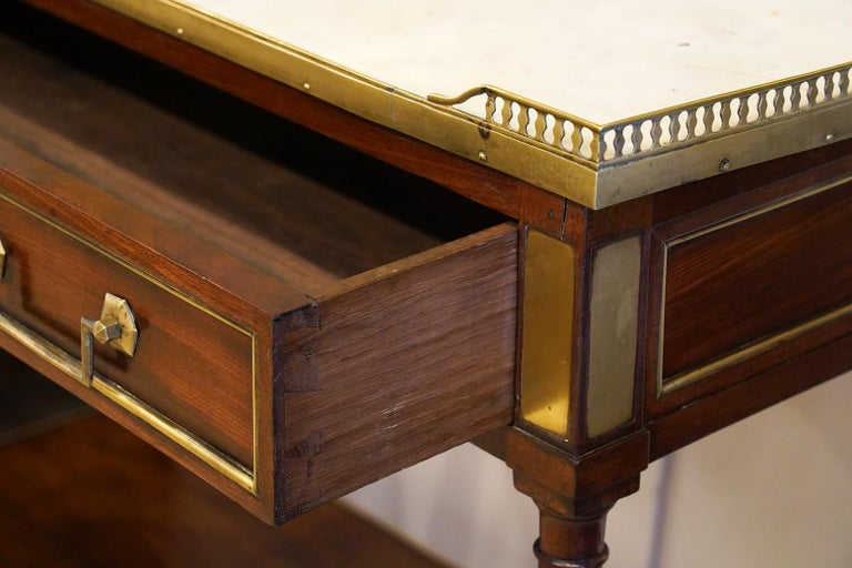 Early 19th Century French Directoire Marble-Top Dessert Table or Server In Good Condition For Sale In Ft. Lauderdale, FL