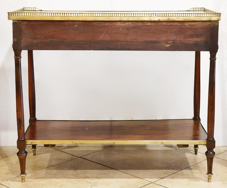 Early 19th Century French Directoire Marble-Top Dessert Table or Server For Sale 5