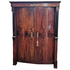 Early 19th Century French Empire Armoire Wine Cabinet