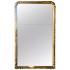 Early 19th Century French Giltwood Crystal Mirror, Louis Philippe Epoque