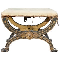 Early 19th Century French Imperial Empire Tabouret Ordered for The Tuileries