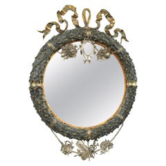 An Early 19th Century French Led & Gilt Bronze Mirror