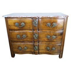 Early 19th Century French Louis XV Style Commode with Bronze Hardware