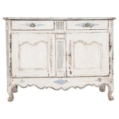 Early 19th Century French Louis XV Style Painted Buffet
