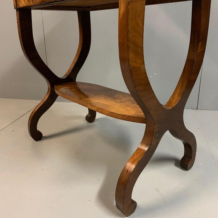 Early 19th Century French Mahogany and Marble-Top Dressing Table with a Drawer For Sale 5