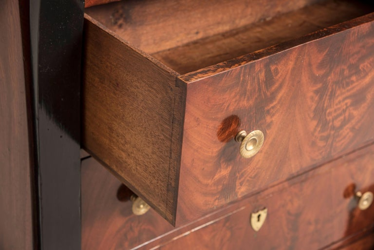 Early 19th Century French Mahogany Wood Chest of Drawers For Sale 3