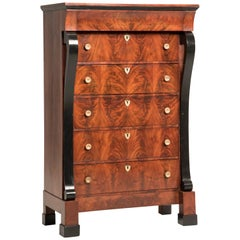Early 19th Century French Mahogany Wood Chest of Drawers