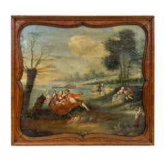 Early 19th Century French Marine Landscape Oil Painting