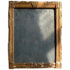 Early 19th Century French Mercury Plate Mirror