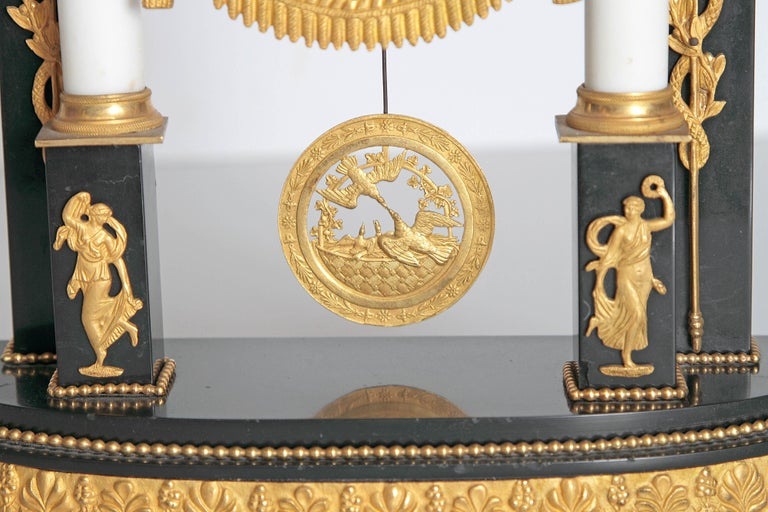 Early 19th Century French Neoclassic Clock For Sale 6