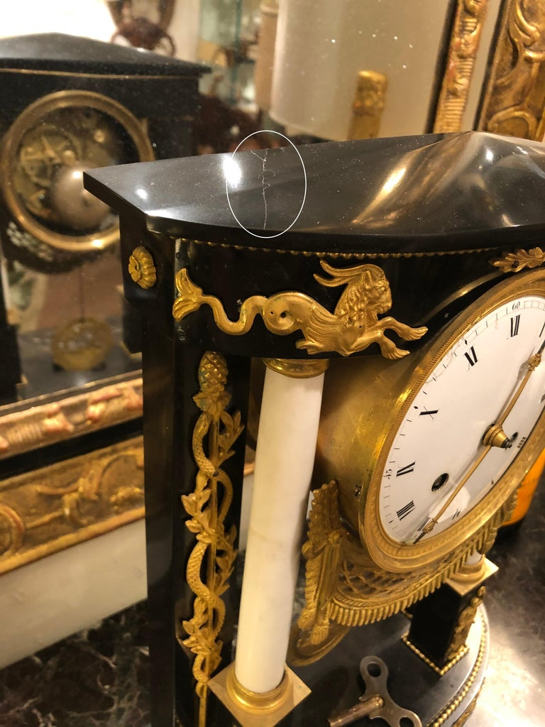 Early 19th Century French Neoclassic Clock For Sale 14