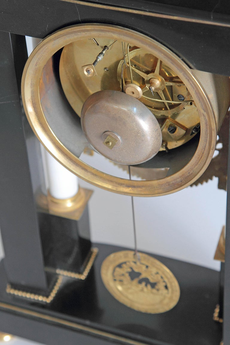 Early 19th Century French Neoclassic Clock For Sale 9