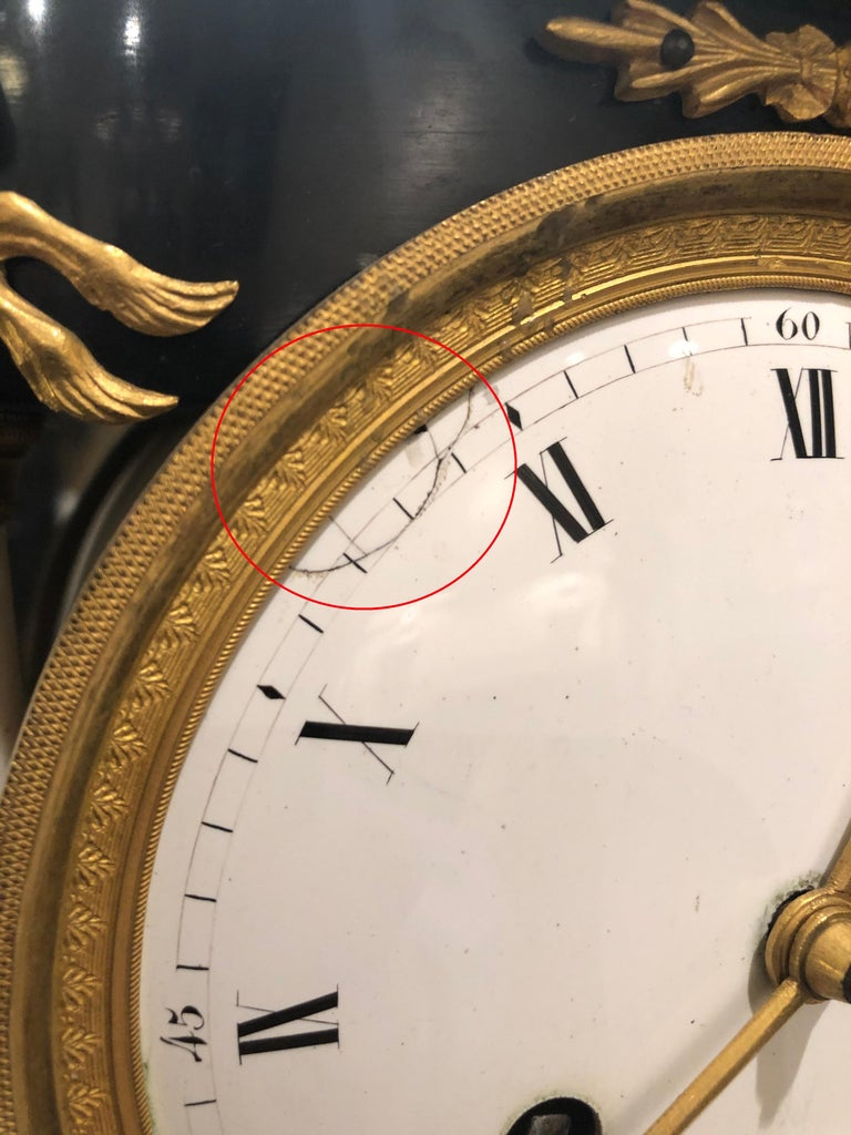 Early 19th Century French Neoclassic Clock For Sale 4