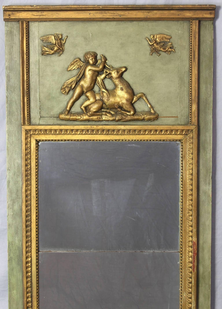 Hand-Crafted Early 19th Century French Neoclassical Mirror For Sale