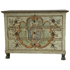 Early 19th Century French Neoclassical Painted Chest
