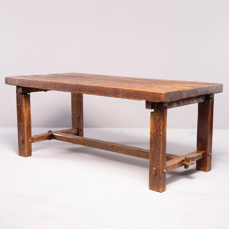 Early 19th Century French Oak Table In Good Condition For Sale In Troy, MI