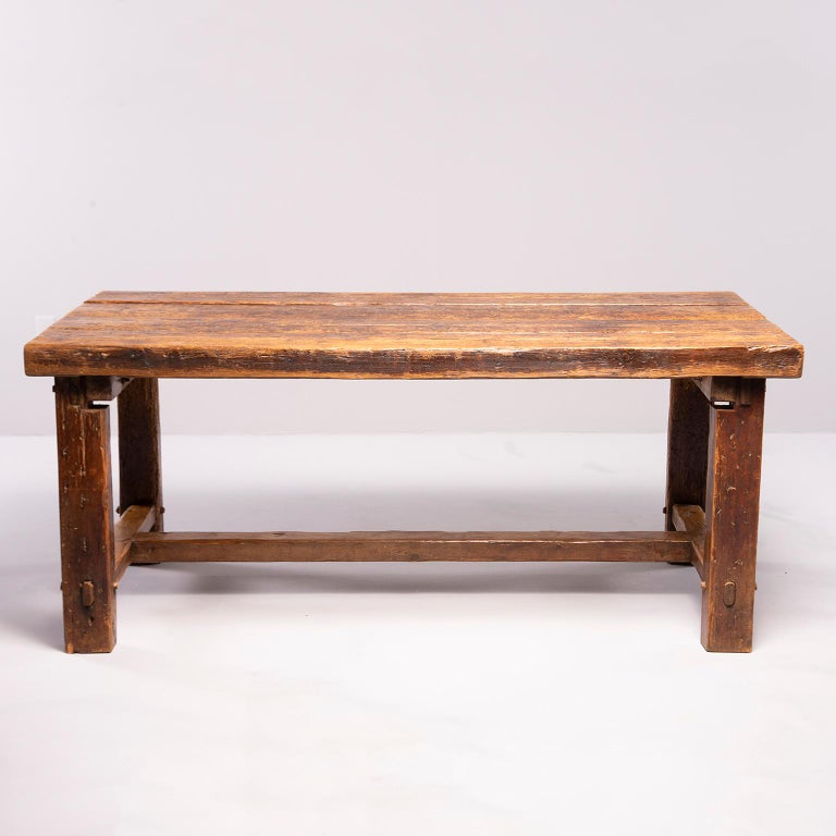 Early 19th Century French Oak Table For Sale 4
